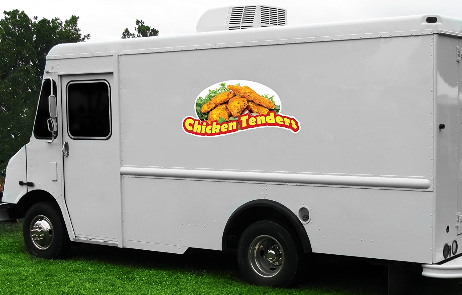 Chicken TENDERS /& Fries 12 Concession Decal Sign cart Trailer Stand Sticker Equipment