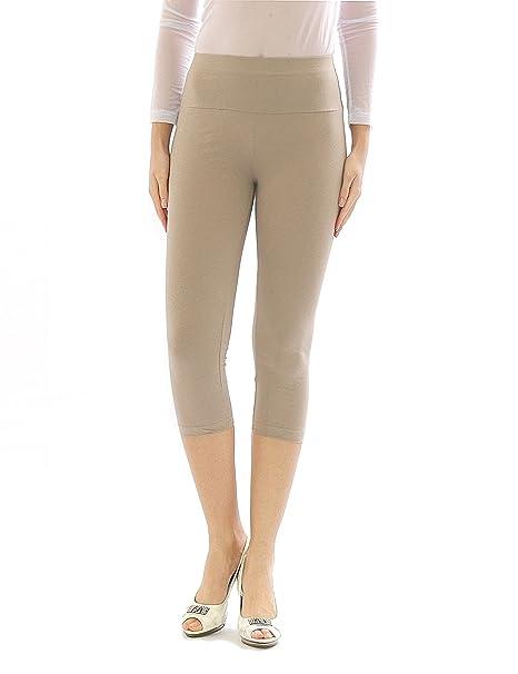 yeset Damen Capri 3 4 Leggings Leggins Baumwolle Hose Wäsche hoher Bund   Amazon.de  Bekleidung 8e23d8acce