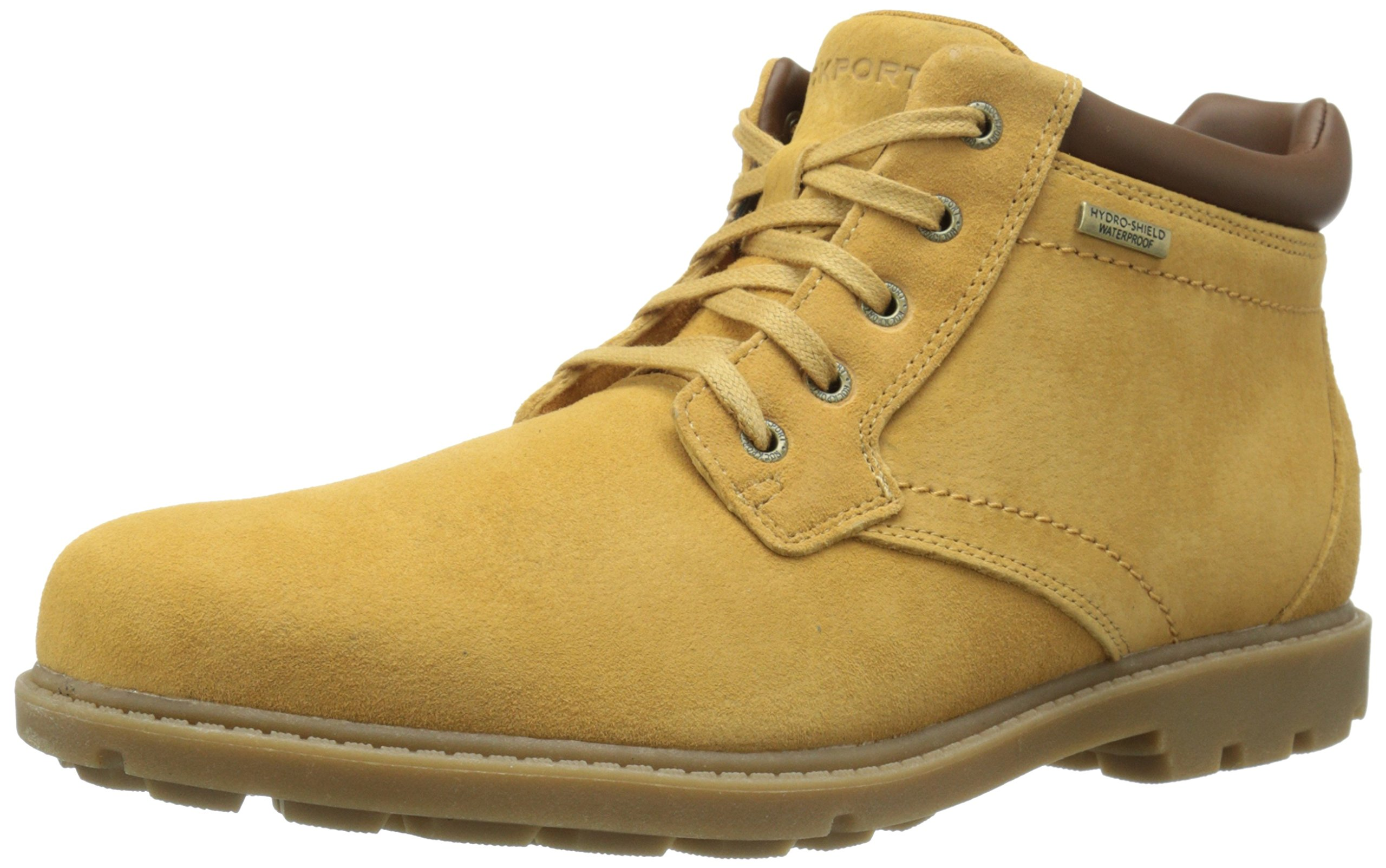 Rockport Men's Rugged Bucks Waterproof Boot Tan Suede 12 M (D)-12 M by Rockport