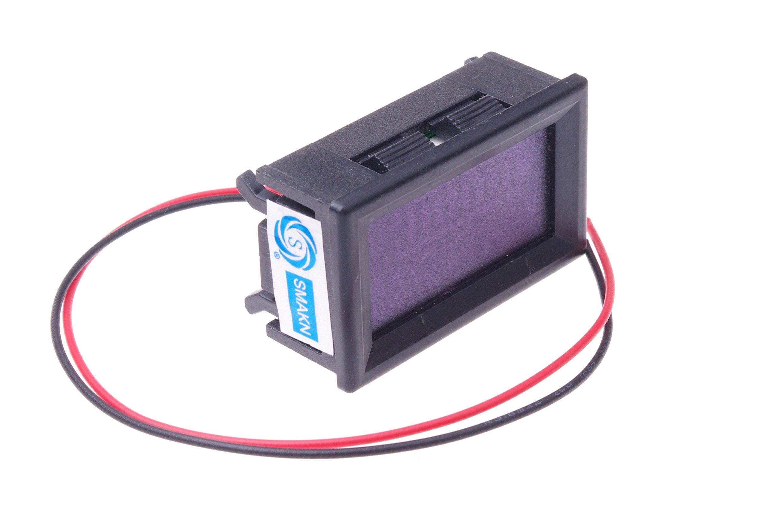 SMAKN DC 12v 24V 36V 48V 60V 72V 96V Acid lead batteries percentage capacity indicator LED Tester voltmeter With TTL OUTPUT by SMAKN (Image #7)