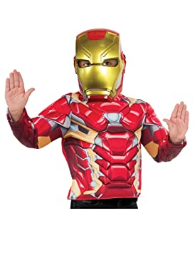 Avengers - 39216 Mascara Iron Man Inf, Multicolor, Talla única (RubieS 39216NS)