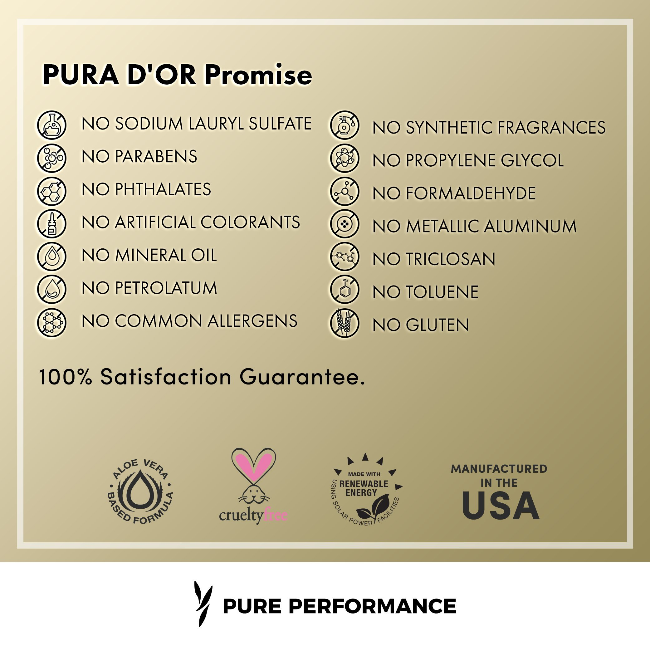 PURA D'OR Original Gold Label Anti-Thinning Shampoo & Deep Moisturizing Conditioner Set, Clinically Tested, Rich in Natural Ingredients, All Hair Types, Men & Women, 16 fl oz (Packaging may vary) by PURA D'OR (Image #4)