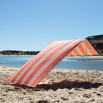 10 Pole Windbreaker Garden Camping Wind break Beach Sun Shade Holiday Stripe