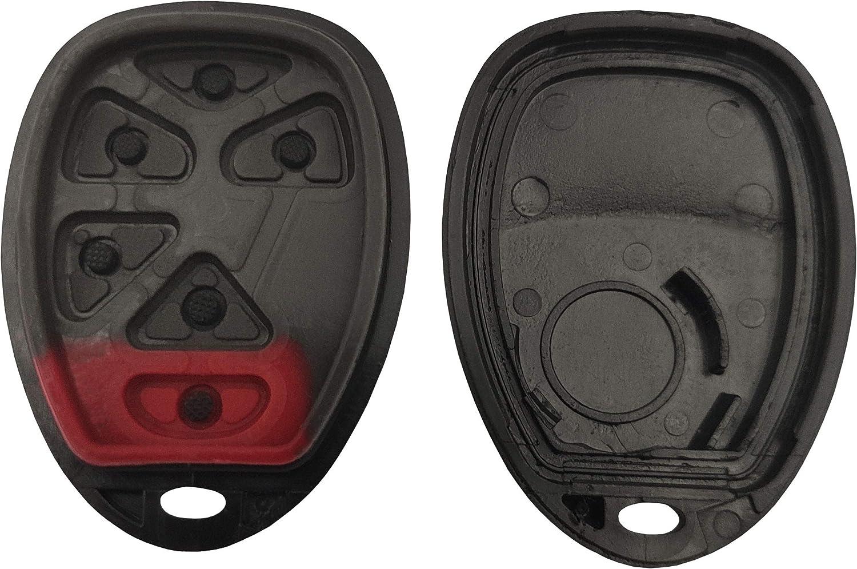 BINOWEN New Key Fob Case Shell Keyless Remote Replacement for Chevy Suburban Tahoe Traverse Key Fob Cover GMC Yukon XL