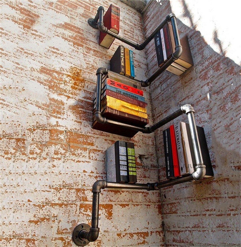 Chengxin Shop-Mobili per ufficio Scaffale vintage antico / attaccapanni / libreria angolare in ferro Scaffale per soggiorno Bar Cucina / Pipa ad acqua Scaffale decorativo fissato a parete telaio angolare Stand-30 * 30 * 120cm - armadi, scaffali & scaff