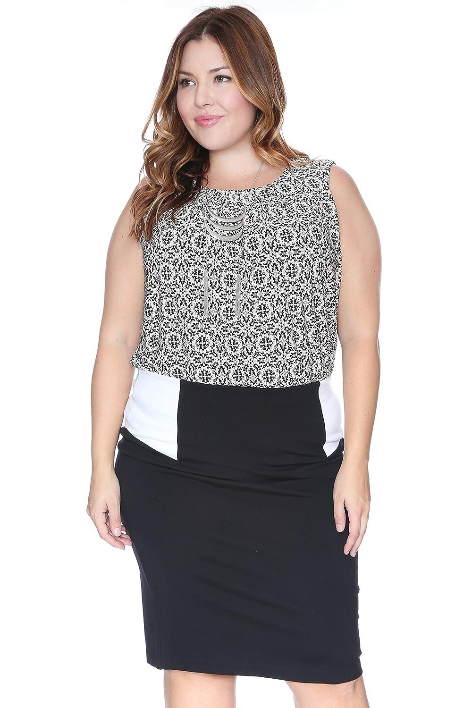 109e656228af8 Grayson Shop Plus Size Colorblock Skirt at Amazon Women s Clothing store