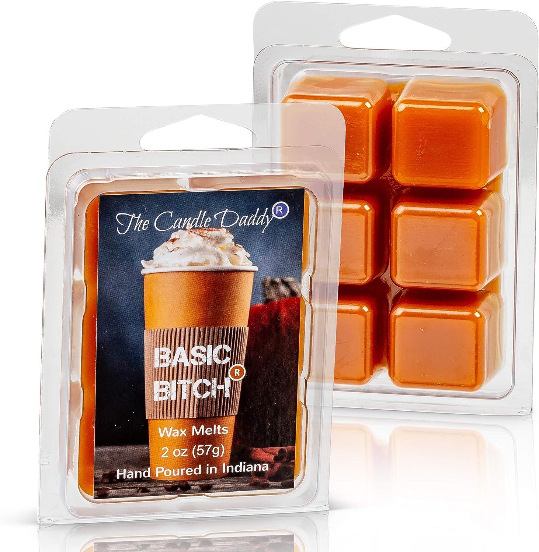 Basic Bitch- Funny Pumpkin Spice Scented Melt- Maximum Scent Wax Cubes/Melts- 1 Pack -2 Ounces- 6 Cubes