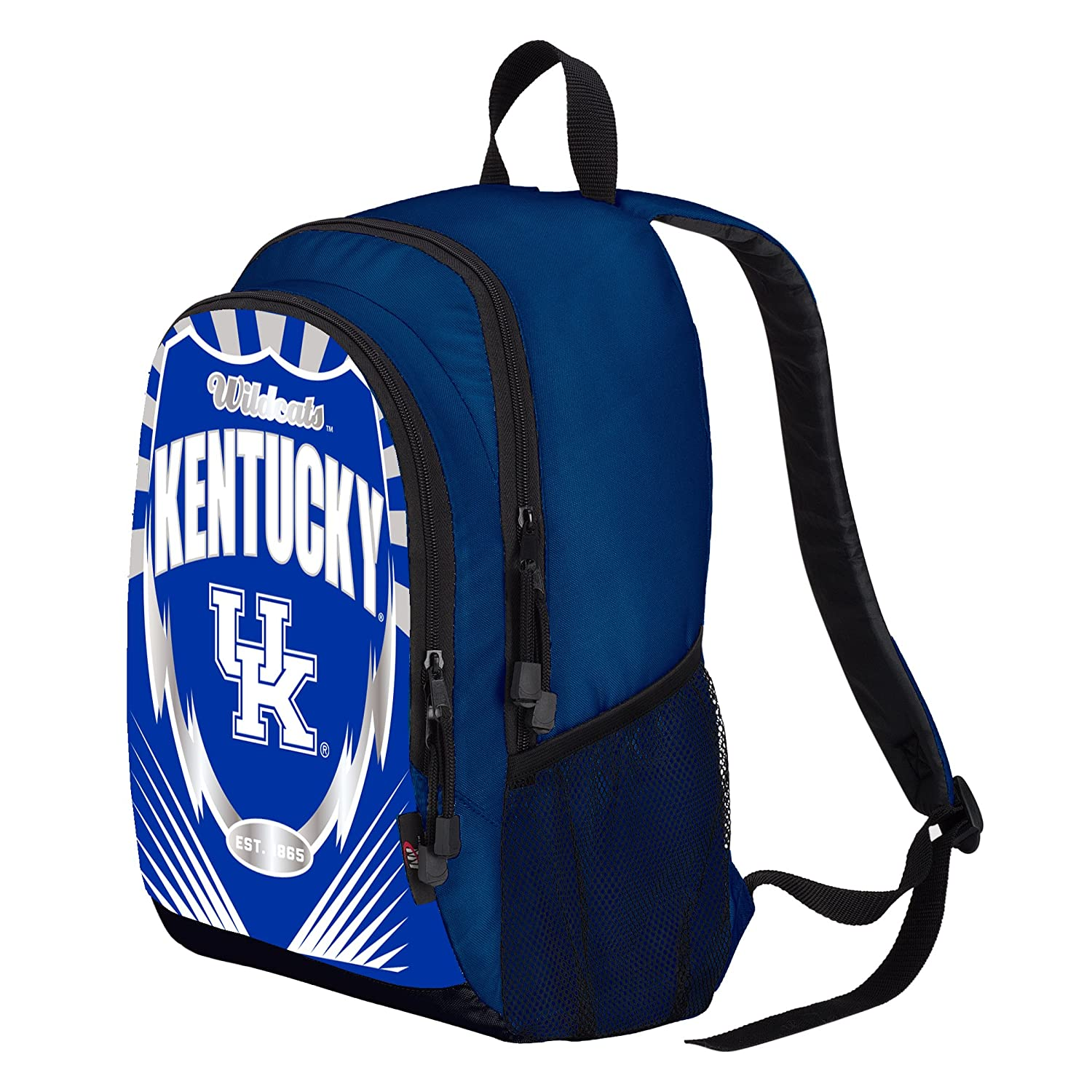Blue Officially Licensed NCAA Kentucky Wildcats Lightning Kids Sports Backpack 16.5