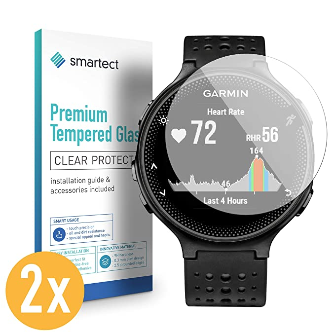 652935d67 smartect Glass Screen Protector for Garmin Forerunner 235 [2 Pack] - 9H  Tempered Glass