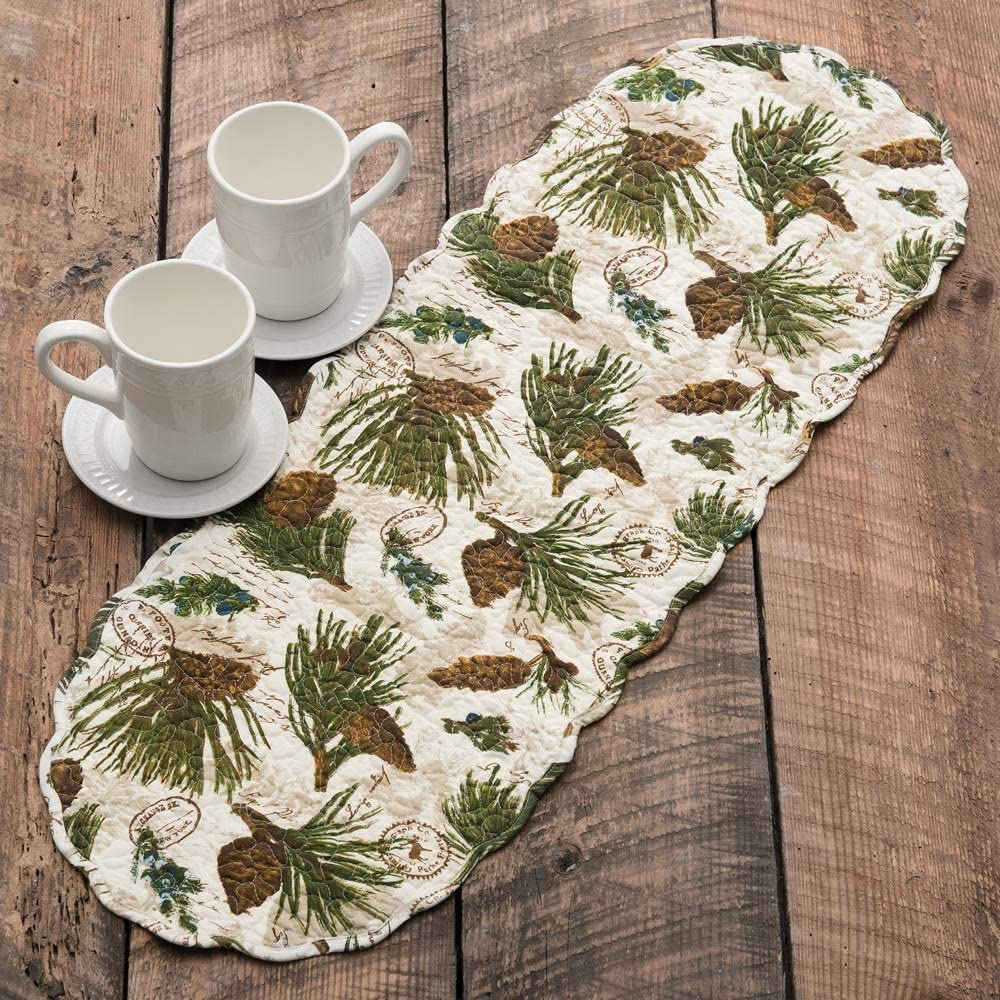 BLACK FOREST DECOR Walk in The Woods Table Runner - 36 Inch