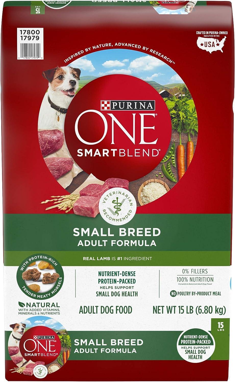 Purina ONE Natural Small Breed Dry Dog Food, SmartBlend Lamb & Rice Formula - 15 lb. Bag