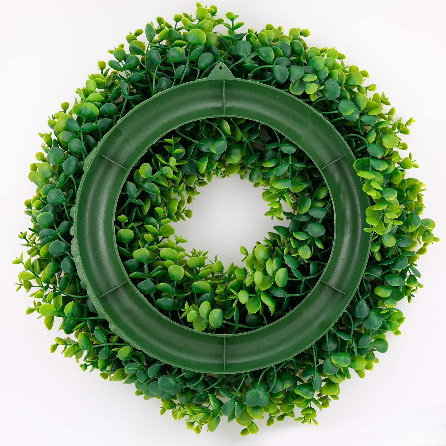 Bhappy Small Boxwood Wreath 10 inch Faux Greenery Wreath Centerpiece Indoor Front Door Home Wall Window Wedding Farmhouse Party Festival Decor