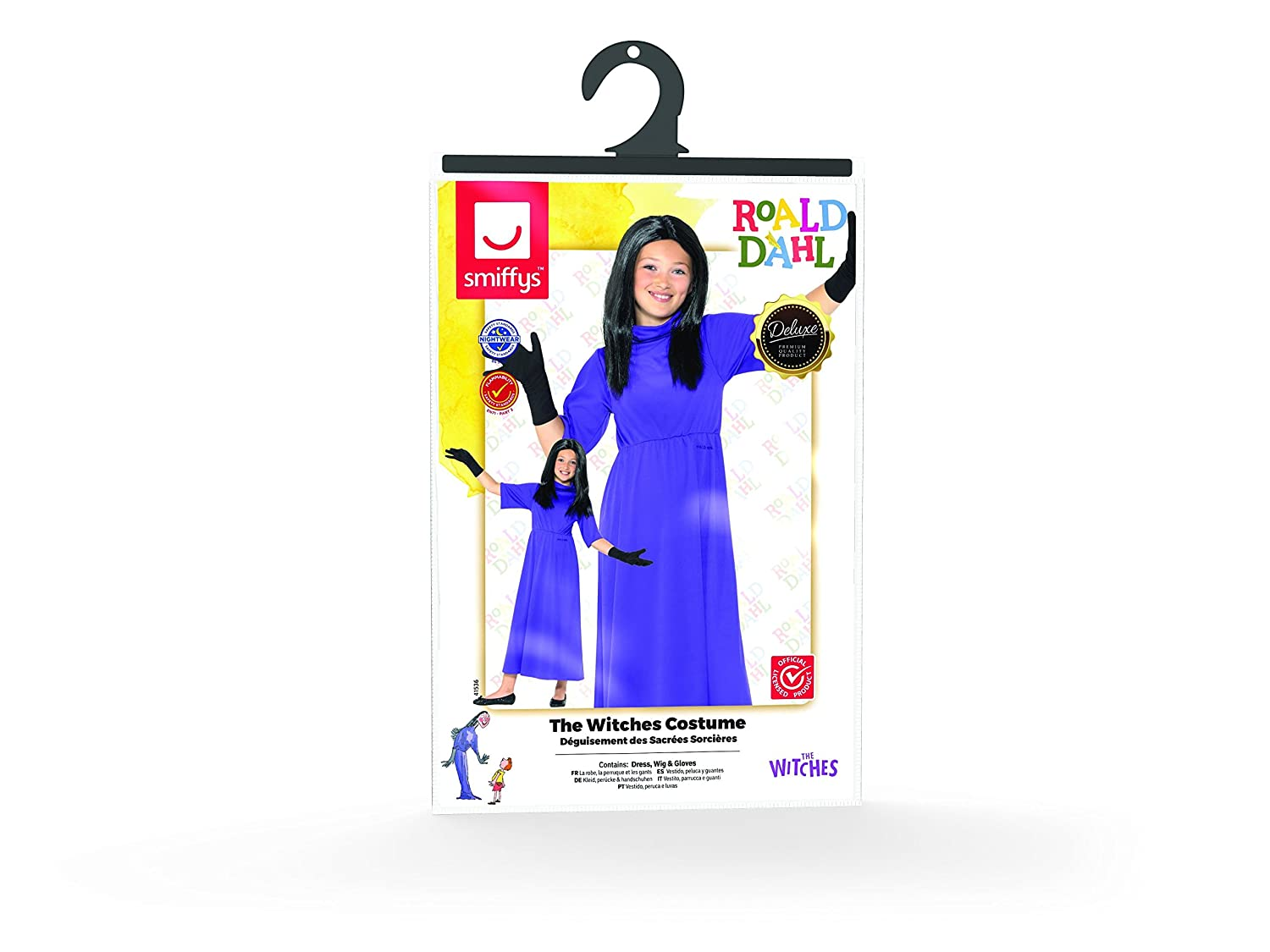 Amazon.com: Smiffys Officially Licensed Roald Dahl Deluxe The Witches Costume: Clothing