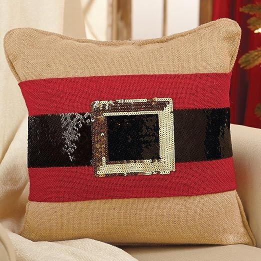 Pastel de barro de Papá Noel cinturón de lentejuelas Cojín ...