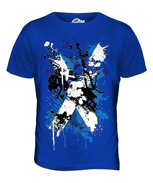 Bandera Escocia Estampado Abstracto camiseta hombre Camiseta Top: Amazon.es: Ropa y accesorios