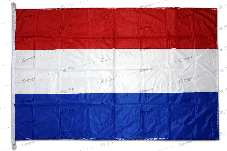 Bandera Holanda 150x100 cm en tela náutico resistente al viento 115g/m², bandera de Holanda 150x100, bandera holandese 150x100cm con cordón o mosquetones, doble costura perimetral y cinta de refuerzo: Amazon.es: Jardín