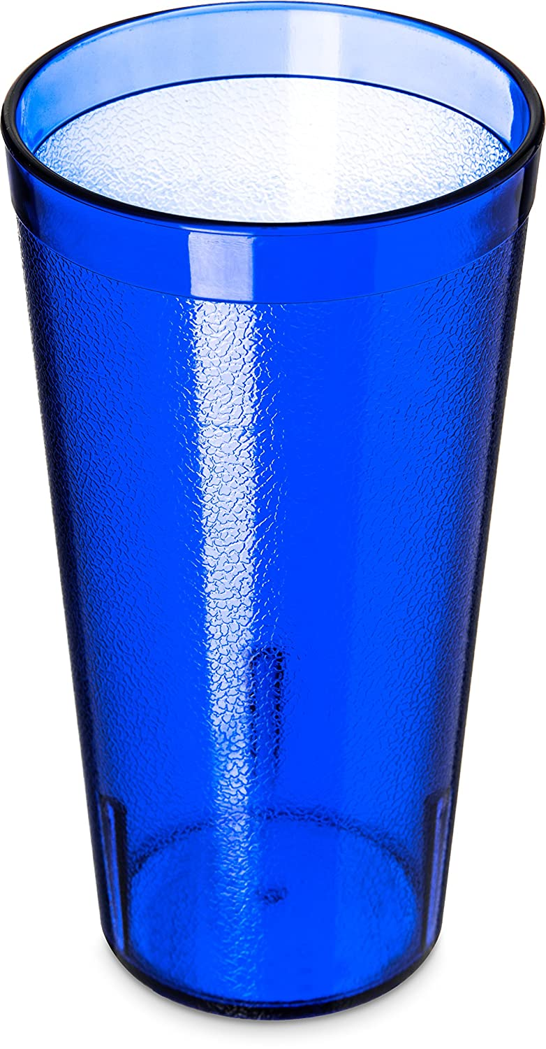 Carlisle 5220-8147 BPA Free Plastic Stackable Tumbler, 20 oz., Royal Blue (Pack of 6)