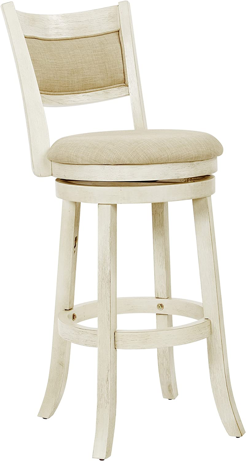 OSP Home Furnishings Stool, Antique White