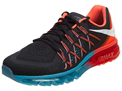 1a1c33ea Nike Air Max 2015 Mens Running Shoes 698902-006 Black Bright Crimson-Blue  Lagoon