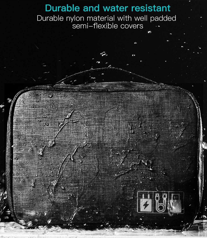 Trousse de Maquillage Noir Trousse de Maquillage /étanche organiseurs de Voyage Trousse de Maquillage Portable Sac de Rangement pour Femmes Hommes