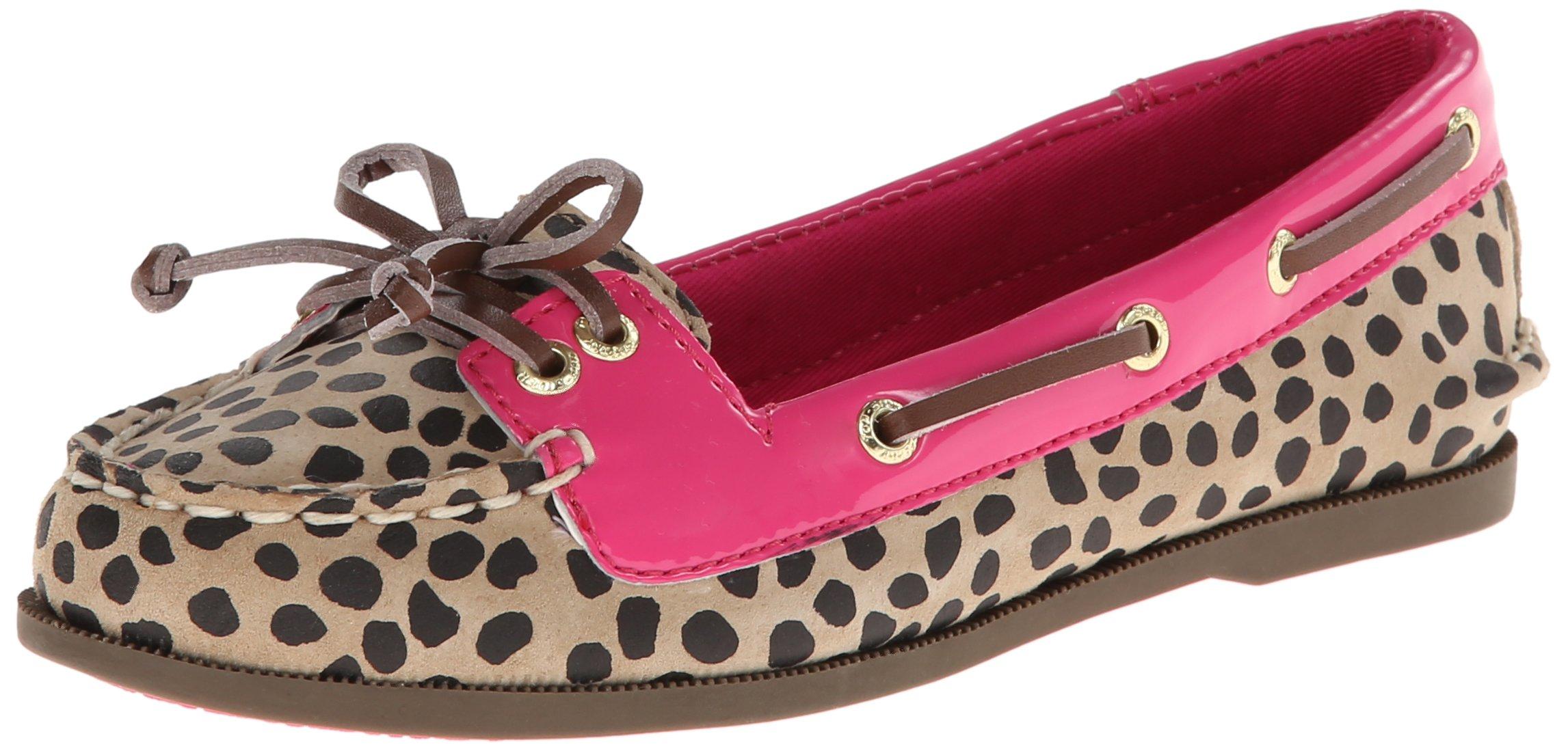 Sperry Top-Sider Audrey YG Boat Shoe (Little Kid/Big Kid),Leopard/Pink,2.5 M US Little Kid