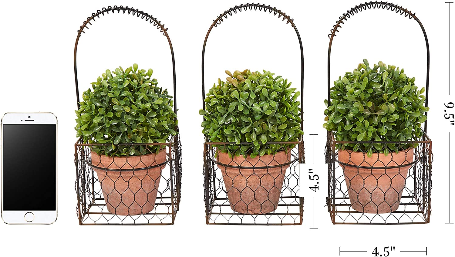 SunYueY Artificial Mini Bonsai Tree Topiary Grass Ball Fake Potted Plant for Home Office Desk Decor 3#
