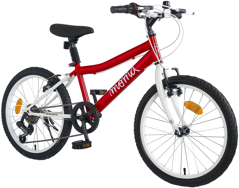 MOMA BIKES Jungen BIKID20RUN Fahrrad 20  7 Gabelwechsel Shimano, Von 6 Jahre Für Von 120 Bis 135 cm. Gröβe, rot, Unic Größe