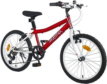 """Moma Bikes Shimando 6V - Bicicleta Infantil 20"""", Rojo, Talla Única"""