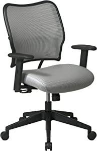 SPACE Seating Deluxe VeraFlex Fabric Seat and Back, 2-to-1 Synchro Tilt Control and 2-Way Adjustable Arms Managers Chair, Shadow
