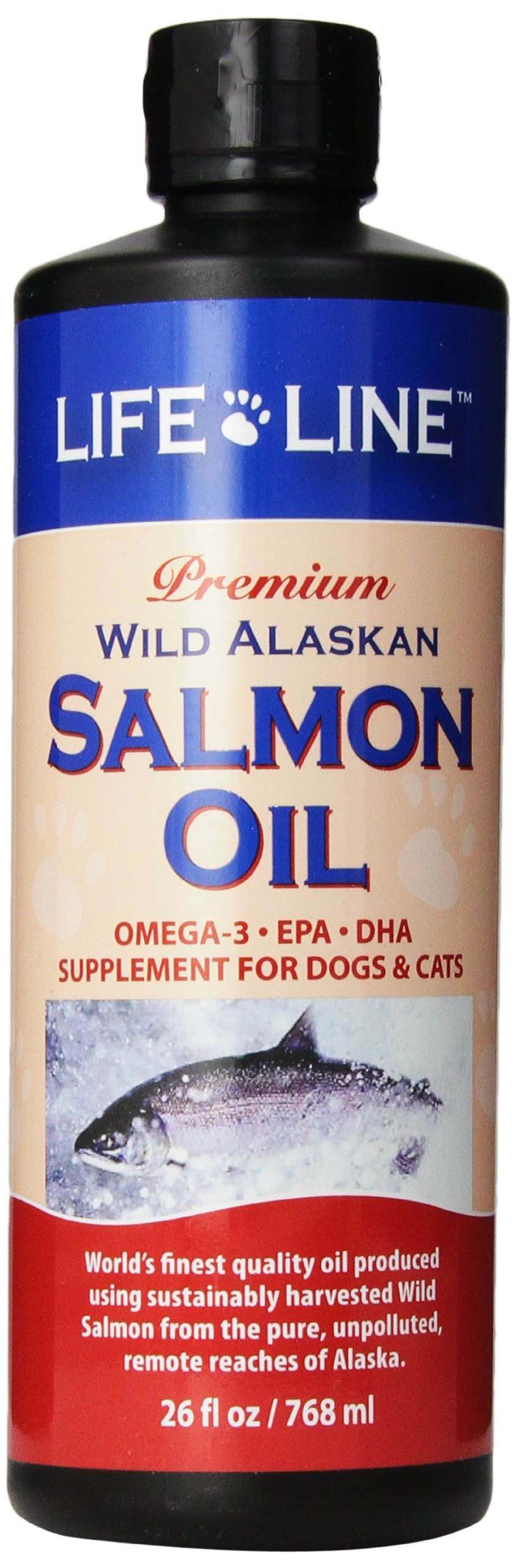 Life Line Wild Alaskan Salmon Oil for Dogs and Cats, 26-Ounce