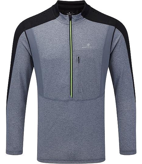 Blue Soft And Light Men's Clothing Popular Brand Ronhill Everyday Half Zip Long Sleeve Mens Running Top