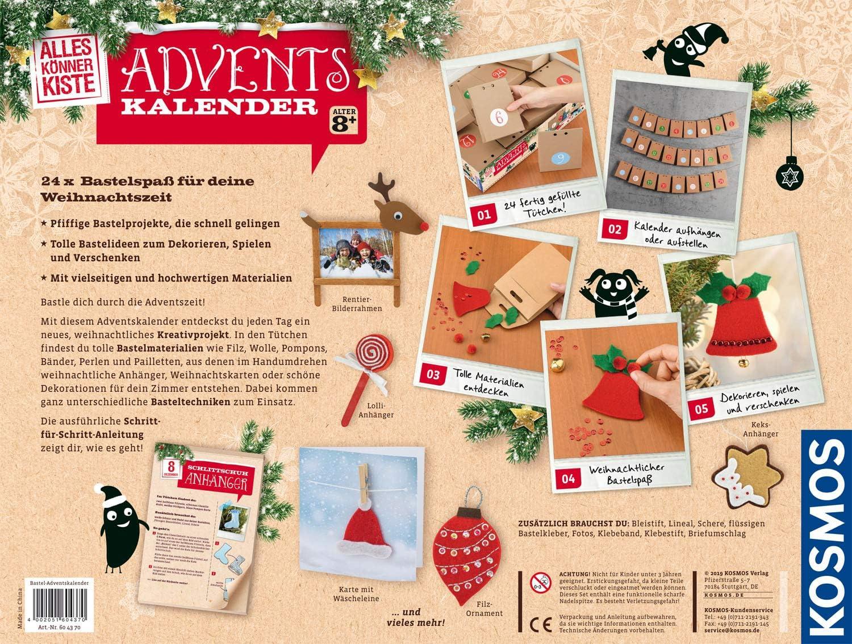 Kosmos Alleskönnerkiste Bastel Adventskalender 2019 Für Mädchen Und Jungen Ab 8 Jahren Weihnachtsbasteln Für Die Ganze Familie Kreative Kleine