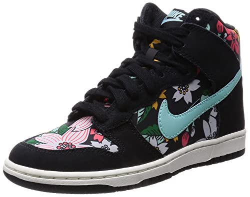 low priced 8fba7 32e0e Nike Womens Dunk High Skinny Print (Aloha) - BlackSail-Black-