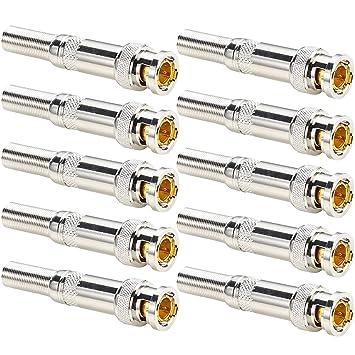 Oiyagai - 10 Conectores BNC Macho sin Soldadura Q9 a RG59 Cable coaxial para cámara CCTV