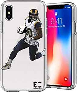 Epic Cases iPhone6 Plus iPhone 7/iPhone 8 Plus Case Ultra Slim Crystal Clear Football Series Soft Transparent TPU Case Cover Apple (iPhone 6 Plus) (iPhone 7 Plus) (iPhone 8 Plus) (Gurley Rams)
