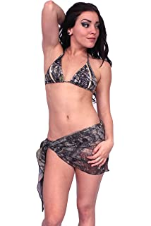 2aa6d1bb384 SHORE TRENDZ Women's Short Camo Sarong True Timber Beach Cover up Made in  The USA