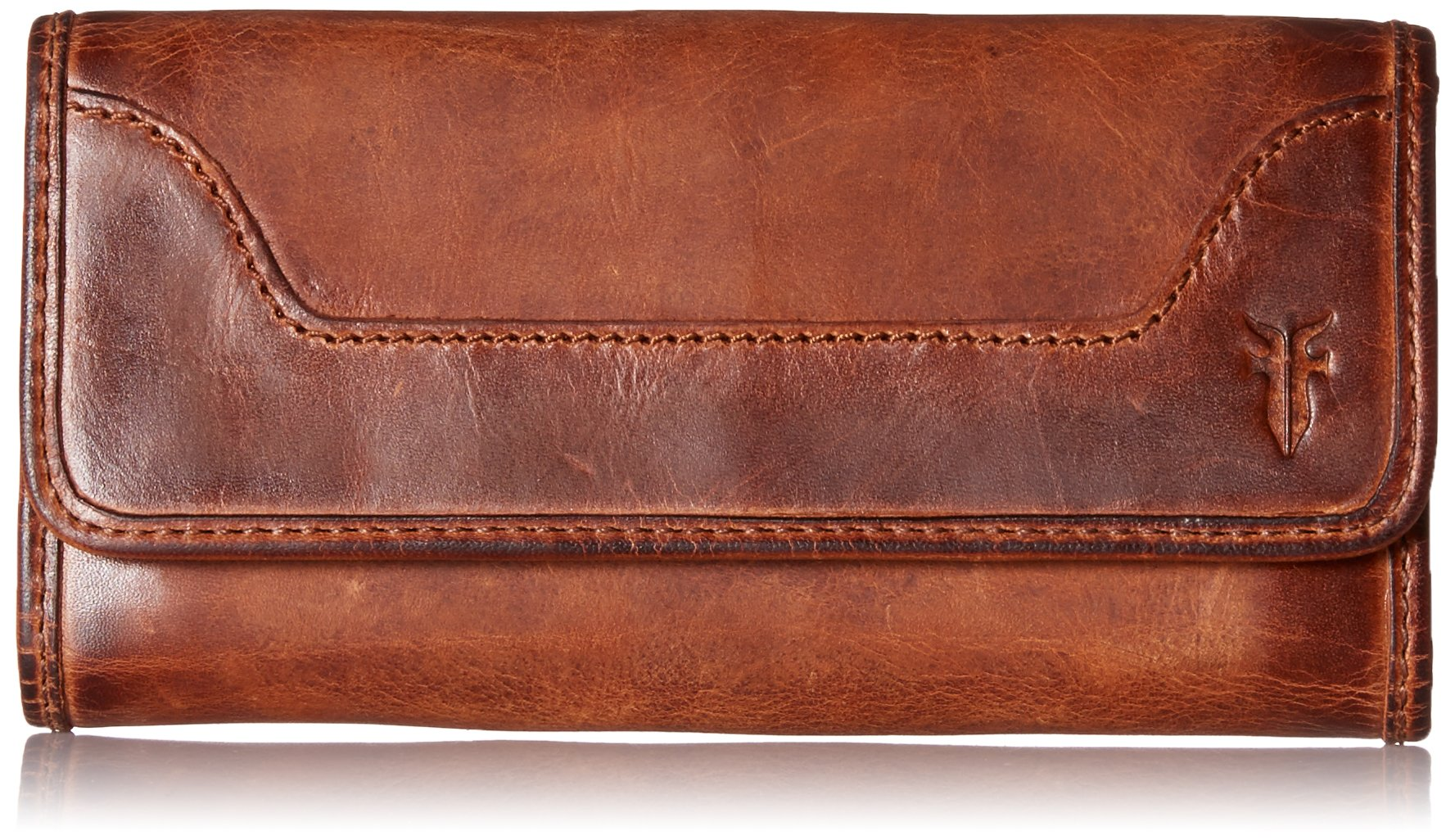 Melissa Continental Snap Wallet, Cognac by FRYE