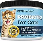 PetUltimates Probiotics for Cats - 20 Species - Stops Diarrhea &