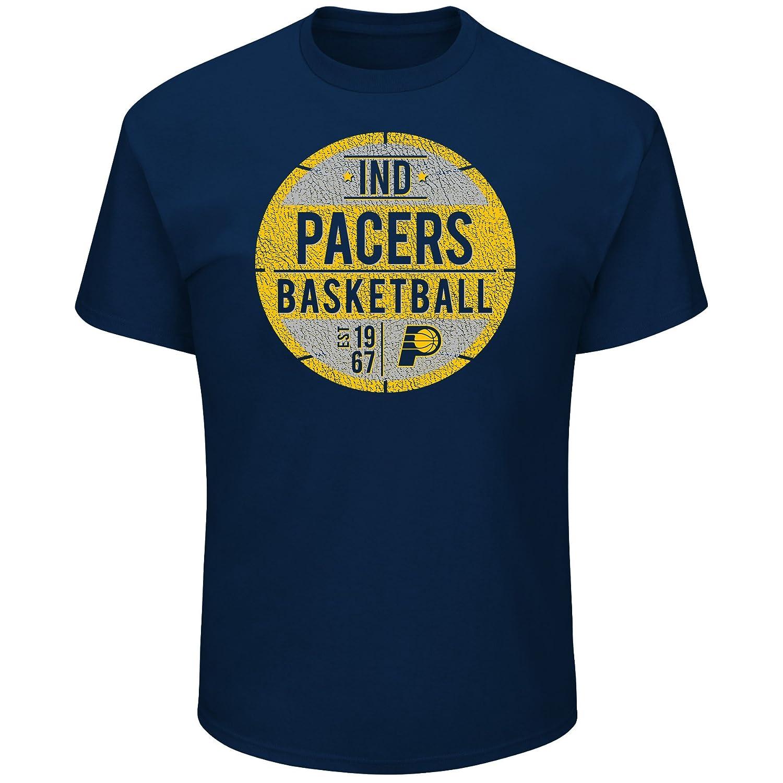 Profile Big /& Tall NBA Indiana Pacers Short Sleeve Screen Tee 2X Navy