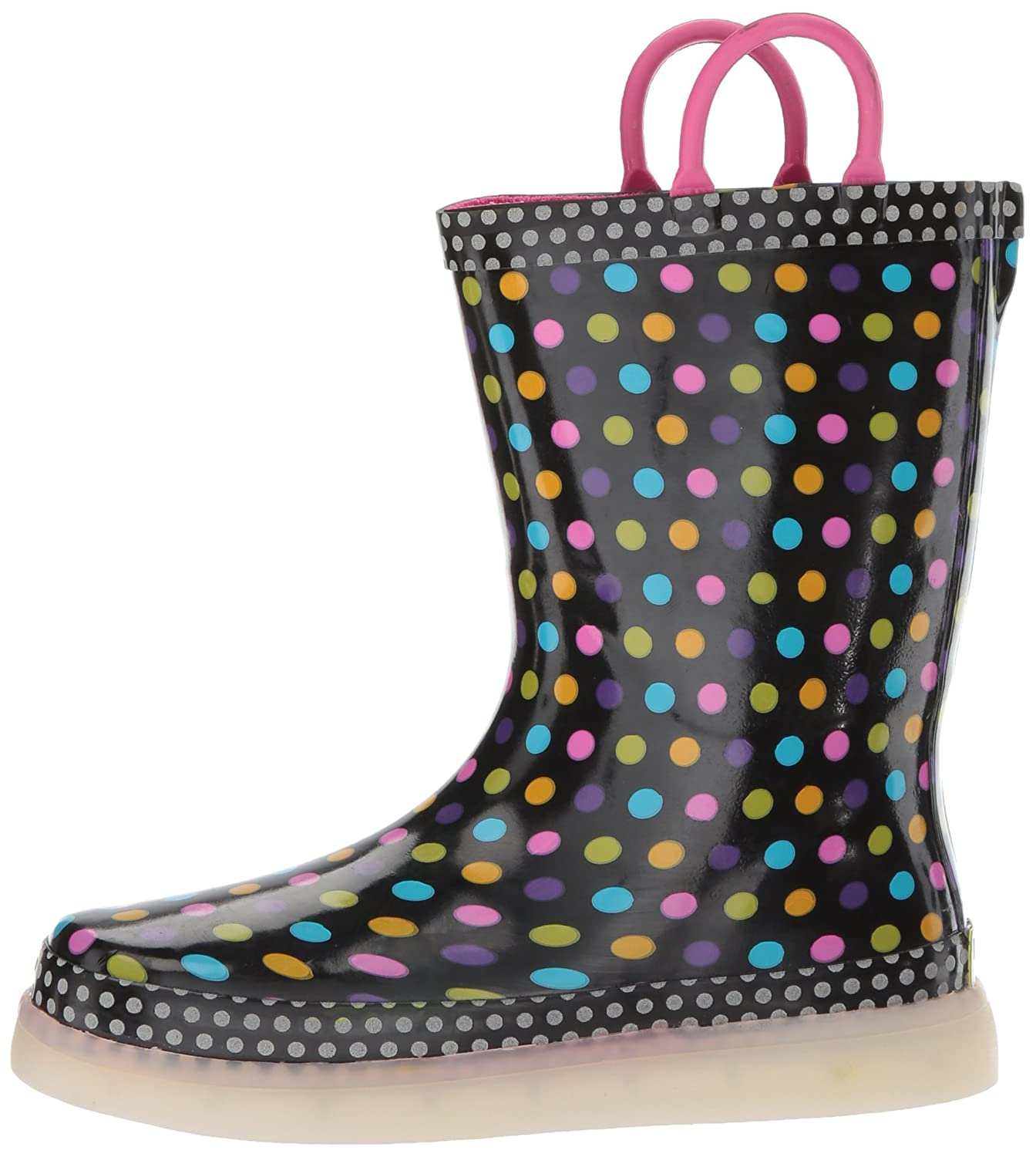 Western Chief Kids LED Light-Up Waterproof Rechargeable Rain Boots