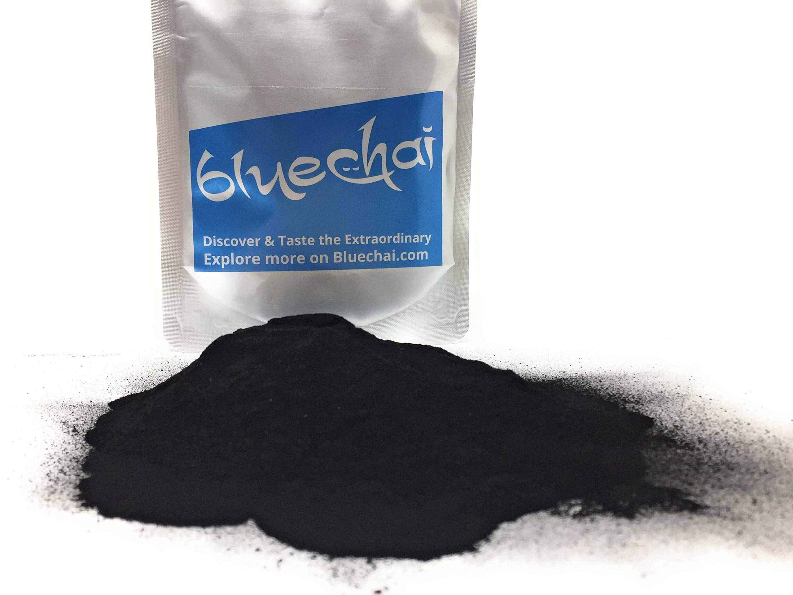 Ikasumi Black Squid Ink Powder - 100% Squid Cuttlefish Ink Powder | Pure, Rare, Natural, Powdered & Genuine Black Ink Ikasumi - Used as a natural black food coloring by Bluechai (Image #1)