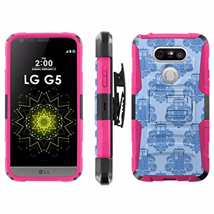 LG G5 Phone Cover Tardis Wallpaper Hot Pink Blitz Hybrid Armor Case For