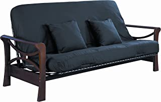 product image for Serta Cypress Double Sided Innerspring Full Futon Mattress, Black, Made in the USA