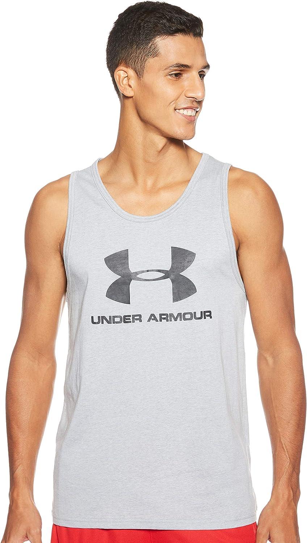 Under Armour Mens Sportstyle Logo Tank Sleeveless Sleeveless
