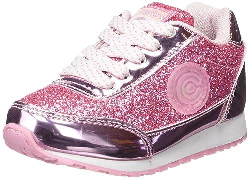 Conguitos Deportivos con Luz Niña Glitter - Zapatillas para niñas, Color Rosa, Talla 25