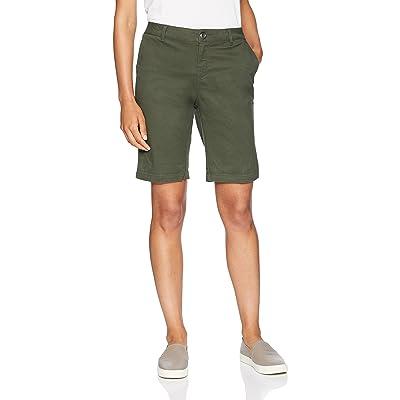 "Essentials Women's 10"" Inseam Solid Bermuda Short Shorts, -olive, 12: Clothing"