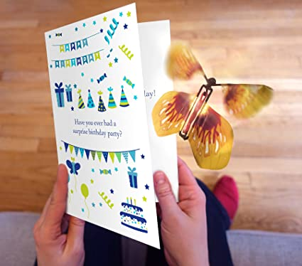 Amazon surprise birthday card with magic butterfly by surprise birthday card with magic butterfly by wahoocards a funny birthday card with a bookmarktalkfo Images