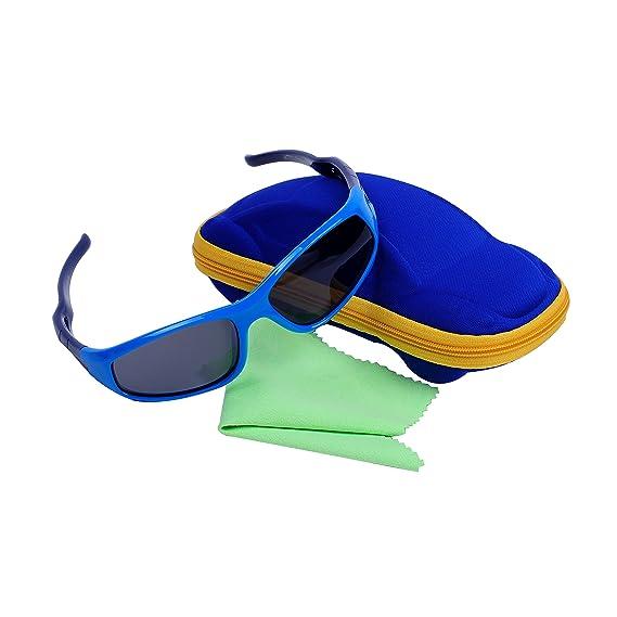 Qixuan QIXU Deportivas Gafas de Sol Niño y Niña (3-12 años) Lentes Polarizadas UV400 Marco Flexible y Caja