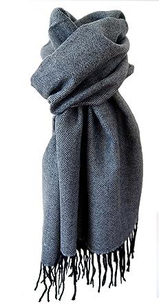 Echarpe homme 30% laine douce et chaude grise  Amazon.fr  Vêtements ... 91bdc8f8621