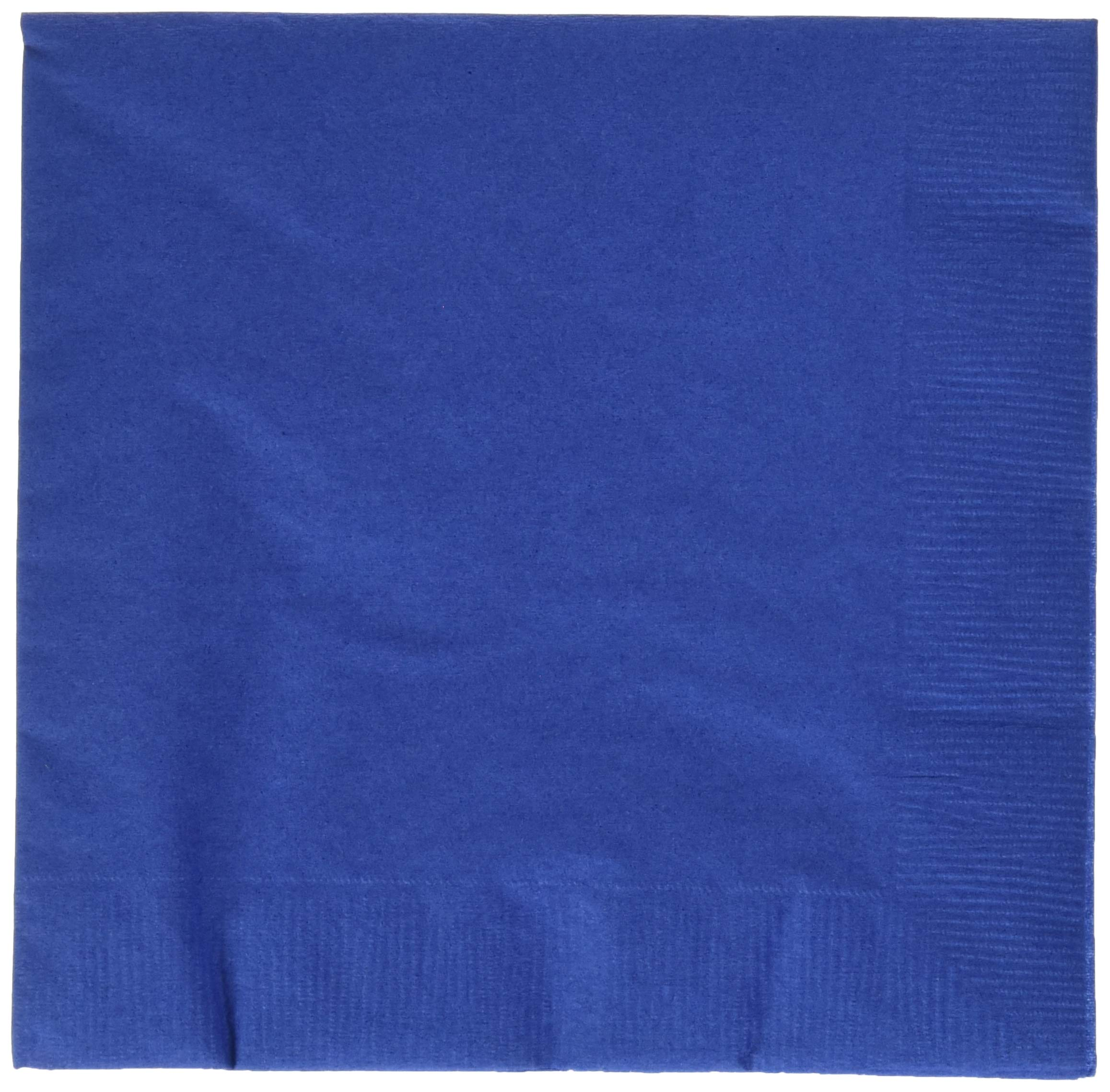 Amscan Bright Royal Blue Luncheon Napkins | Party Supply | 480 ct.